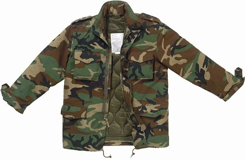 Amazon.com  8433 Ultra Force Woodland Camouflage M-65 Field Jacket ... 206e5a8458e