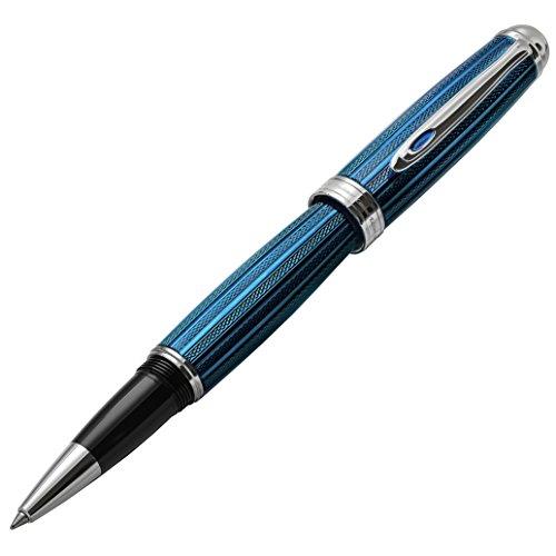- Xezo Freelancer Weighty Brass Rollerball Pen, Venetian Blue Color (Freelancer Venetian Blue R)