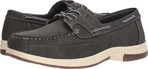 - Deer Stags Men's Mitch Boat Shoe Dark Grey Simulated Oiled Leather 8.5 EEE US