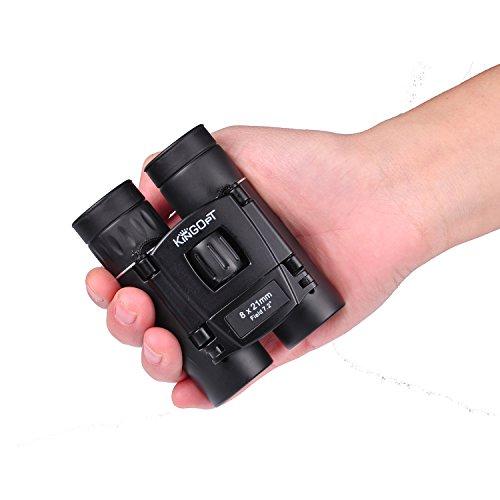 Cheap KINGOPT 8×21 Small Compact Lightweight Binoculars for Concert Theater Opera .Mini Pocket Folding Binoculars w/Fully Coated Lens for Travel Hiking Bird Watching Adults Kids(0.38lb)