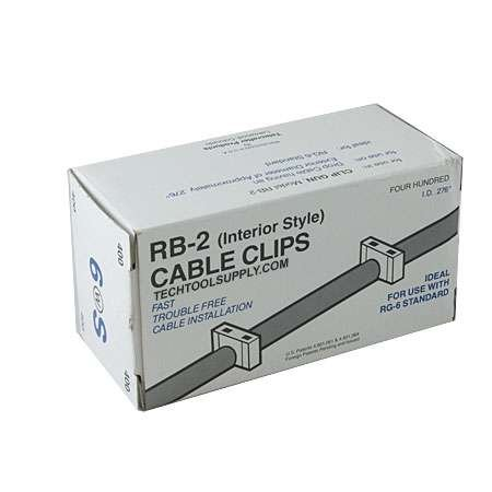 Telecrafter RB2 RG6 Insulated Staples - White ID .276in