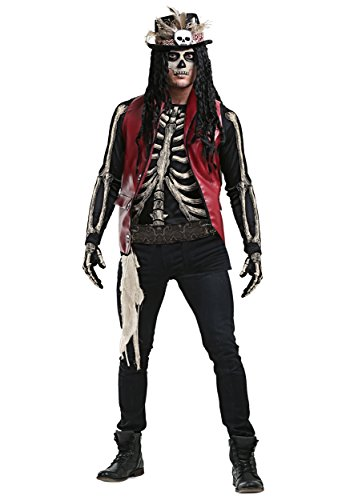 Mens Voodoo Doctor Costume Deluxe Witch Doctor