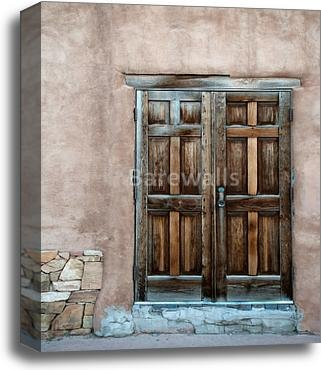 barewalls Wooden Door Gallery Wrapped Canvas Art (20in. x 16in.) by barewalls