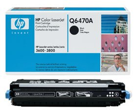 HPQ6470A HP BR COLOR LSRJET 3600, 1-501A SD BLACK TONER by HP