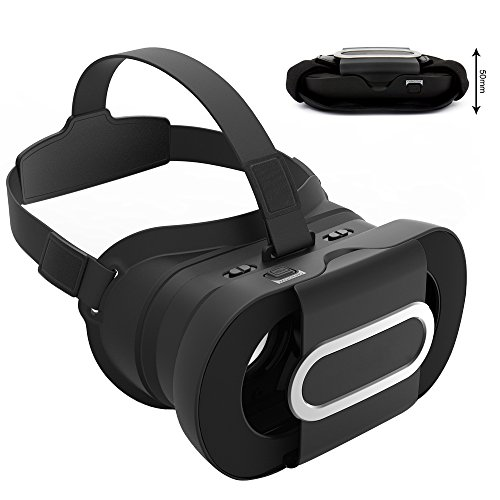 Segawoot 3D VR Glasses Foldable Lightweight Portable Virtual Reality Headset Adjust for VR Games and 3D Movie,Support iPhone 7/plus 7/Samsung Galaxy Note,Compatible with 4.7-6.0 inch screens