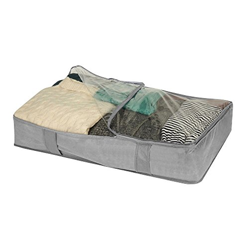Campus Linens Oversized Underbed Organizer for College Dorm Storage (Color Gray) by Campus Linens