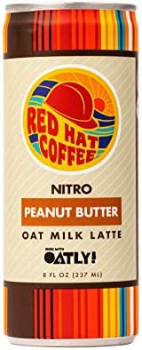 Red Hat Coffee Cold Brew Coffee Oat Milk Latte Drink | Made with Oatly | All Natural, Gluten Free, Dairy Free