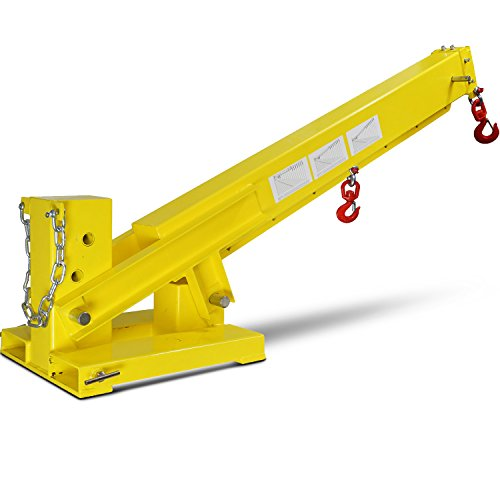 (Titan Forklift Adjustable Mobile Crane Lifting Hoist Truss Jib Boom Hook 6000lb )