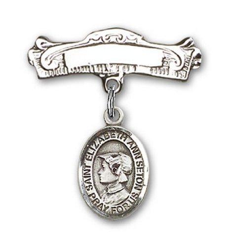 Icecarats Créatrice De Bijoux En Argent Sterling St. Elizabeth Ann Seton Charme Broches Badge Arc 7/8 X 7/8