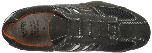 L Herren Grey Dk Whitec1300 Sneakers SNAKE UOMO Off Grau Geox qTwUEFt