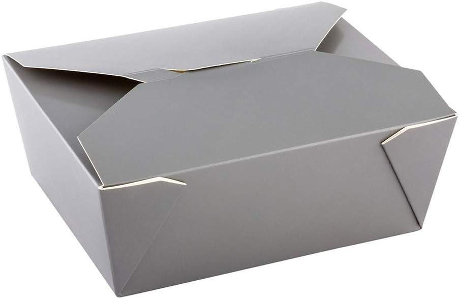 Bio Tek 98 oz Rectangle Gray Paper #4 Bio Box Take Out Container - 8 1/2