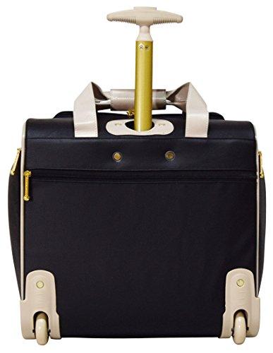 "Nicole Miller Luggage 15"" Under Seat Bag (Sharon Black)"