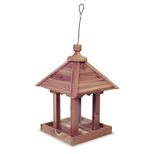 Pennington 100521909 Cedar Jr Pavilion Bird Feeder, 2.5 lb, Aromatic Eastern Red ()