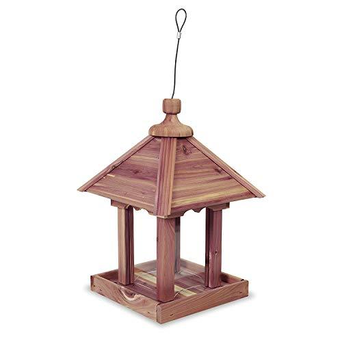 Pennington 100521909 Cedar Jr Pavilion Bird Feeder, 2.5 lb, Aromatic Eastern Red