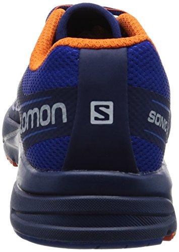 Salomon Mens Sonic Aero-surf Il Web Trail Runner Naviga Nel Web / Profondità Blu / Fiamma