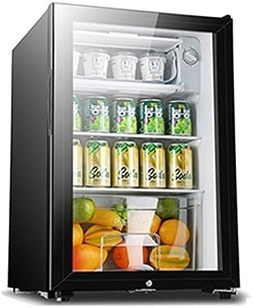 Cabina de Vino del compresor de 12 Botellas refrigerador, Puerta de Vidrio Templado, Bodega Independiente, Control de Temperatura, con Cerradura (Color : Black, Size : 68 * 44 * 45cm)