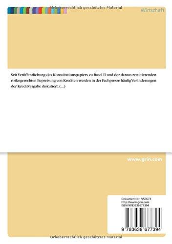 Basel II und der Mittelstand - Die Kreditvergabe im Wandel seit 1988 (German Edition)