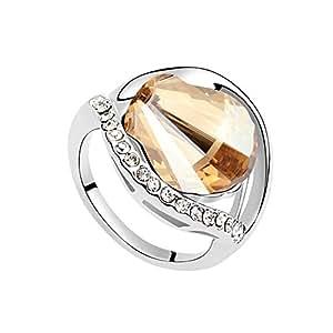 Love marching crystal rings