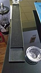 Amazon.com | Rubber Bar Service Spill Mat - Black: Bar ...