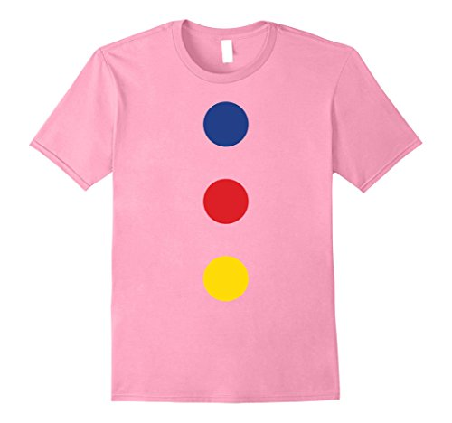 Pink Wig Halloween Costumes Idea (Mens Fast Halloween Clown Costume T-Shirt - Easy and Quick 2XL Pink)