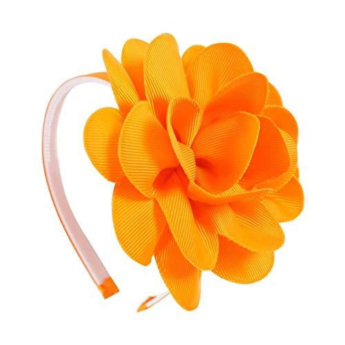 (Handmade Girls Big Flower Hair Band Grosgrain Ribbon Headband With Plastic Hairbands For Children Kids Headdress Gift 7)