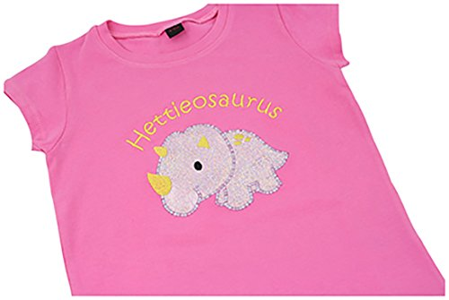9610a4000ade Cute Girls Personalised Dinosaur Applique T-Shirt (4-5 Years