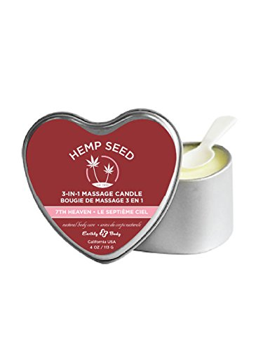 Earthly Body Edible Massage Heart 3 in 1 Candle (Aroma Candle, Moisturizer, Massage Oil) - 7th Heaven