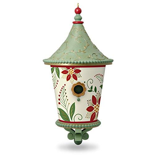 Hallmark Keepsake Christmas Ornament 2018 Year Dated, Poinsettia Beautiful Birdhouse -