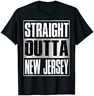 Straight Outta New Jersey  Patriotic New Jersey State T-shirt | Size S - 5XL