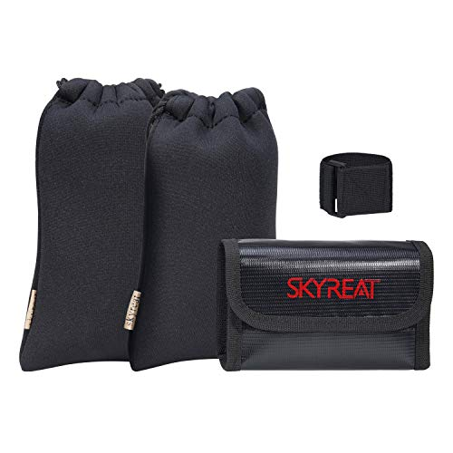 Skyreat Thick Protective Storage Case Sleeve Set Transport Accessories Bundle for DJI Mavic Mini Drone, Remote Controller, Propeller and Batteries