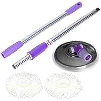 ARSUK Kit balai Manche pour serpillère et 2 têtes de Balais laveurs Rotatif d'essorage sans Effort, Ustensiles de nettoyage - purple