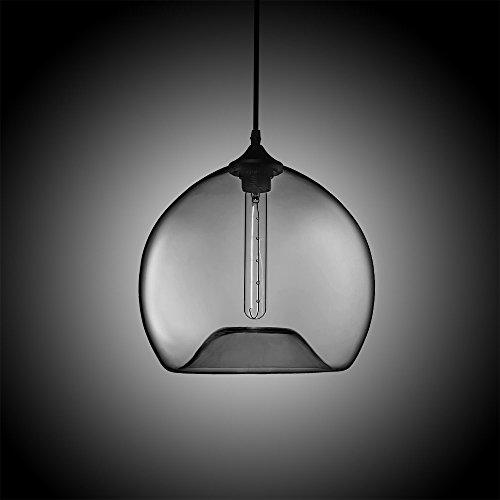 Blown Glass Globe Pendant Light - 9