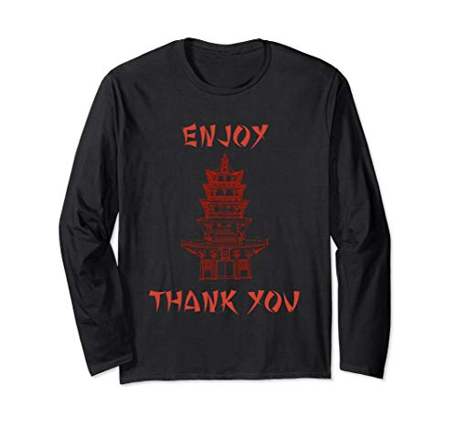 Chinese Food Halloween Costumes (Chinese Food Take Out Box Costume T shirt Long Sleeve)