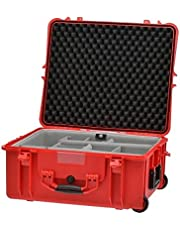 HPRC HPRC2700WSSKRED Wheeled Hard Resin Case with Second Skin Divider, Lightweight, Unbreakable, Red