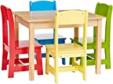 Phoenix Home Fermo Kid's Natural Wood Table and Primary-Color Chair Set (Red, Yellow, Green, Blue) Review