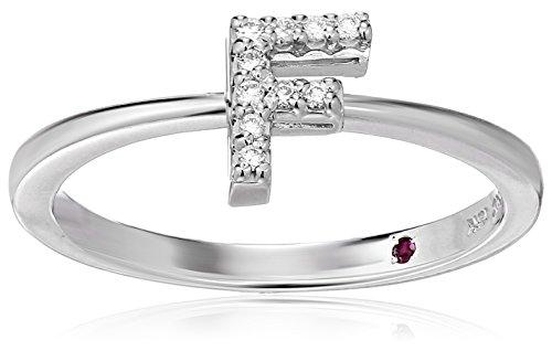 Roberto Coin Women's 001634AWLRXF Diamond Initial Ring, White, Size 7 ()