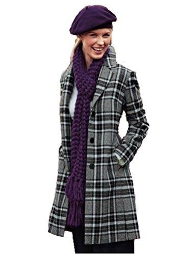Fraenklis écharpe pour femme en tricot violet 208644 strickschal à foulard