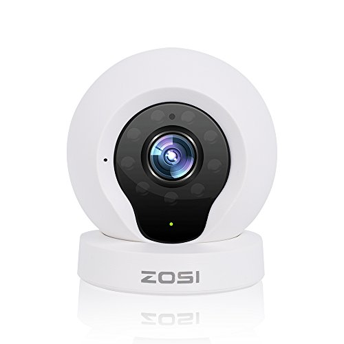 ZOSI ネットワークカメラ 100万画素 暗視撮影 マイク内蔵 動体検知 スマホ/パソコン対応 白 Q2