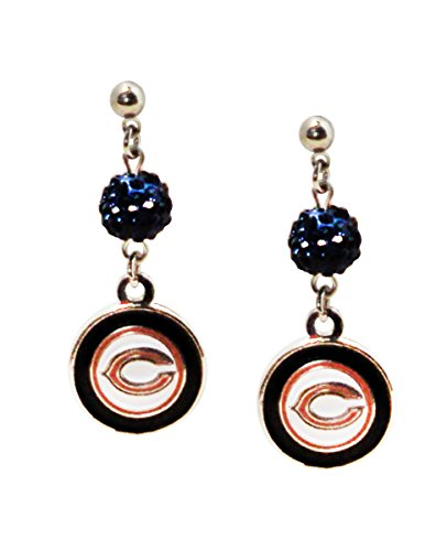 - NFL Chicago Bears Logo Shambala Post Earrings