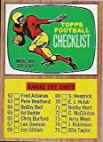 1966 Topps Football Complete 132 Card Set Overall