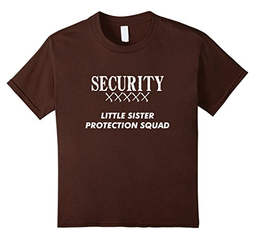 Little Brother And Big Sister Halloween Costumes (Kids Big Brother Gift Ideas Little Sister Protection Squad Shirt 6 Brown)