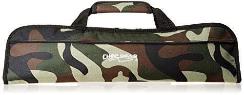 (Ergo Chef Chef's Gear 5 Pocket Padded Knife Roll Bag, Bifold,)