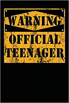 Warning Official Teenager: 13 Year Old Boy Or Girl Birthday Gift. 13th Birthday Party Decoration & Present