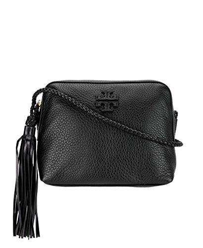 521c9138c4866b Tory Burch Women s Leather Taylor Camera Crossbody Bags Handbag 52715  (Black)