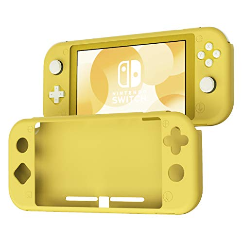 KIWI design Silicone Case for Switch Lite, Soft Silicone Anti-Slip Shockproof Protective Cover Case with Full Protection Body for Nintendo Switch Lite 2019 (Yellow) (Switch Kiwi)