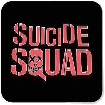 f4e74a950d343a Amazon.com  Suicide Squad Red Vinyl Sticker