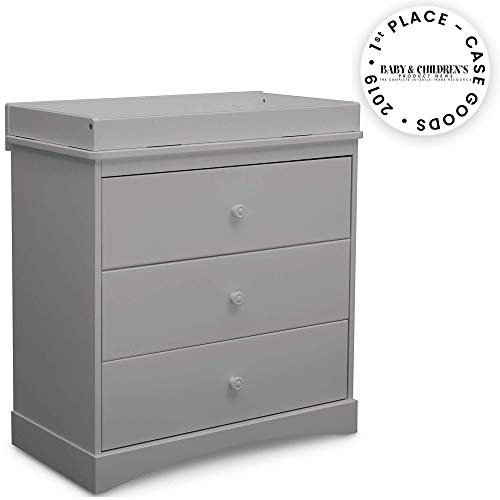 Delta Children Sutton 3 Drawer Dresser with Changing Top, Grey from Delta Children