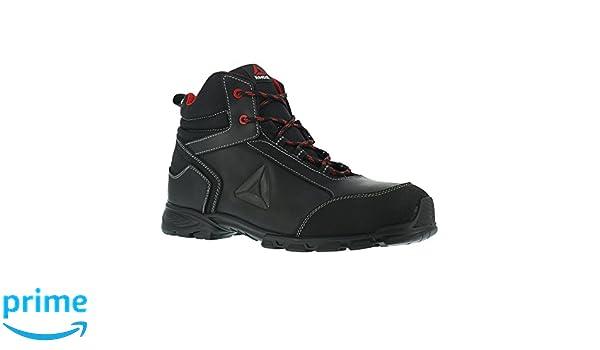 Reebok Work ib1025 S3 botas de seguridad 42 audaz Athletic, aluminio puntera, piel superior, tamaño 42, negro/rojo: Amazon.es: Industria, empresas y ciencia