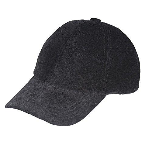 VANCOL Plain Adjustable Velvet Baseball  - Black Velvet Hat Shopping Results