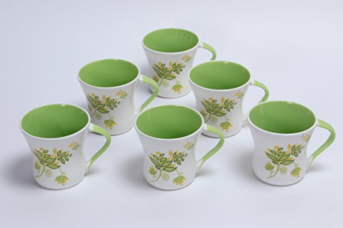 Buy Clay Craft Tea Cups Set Of 6 Daisy Zg25 Online At Low Prices In